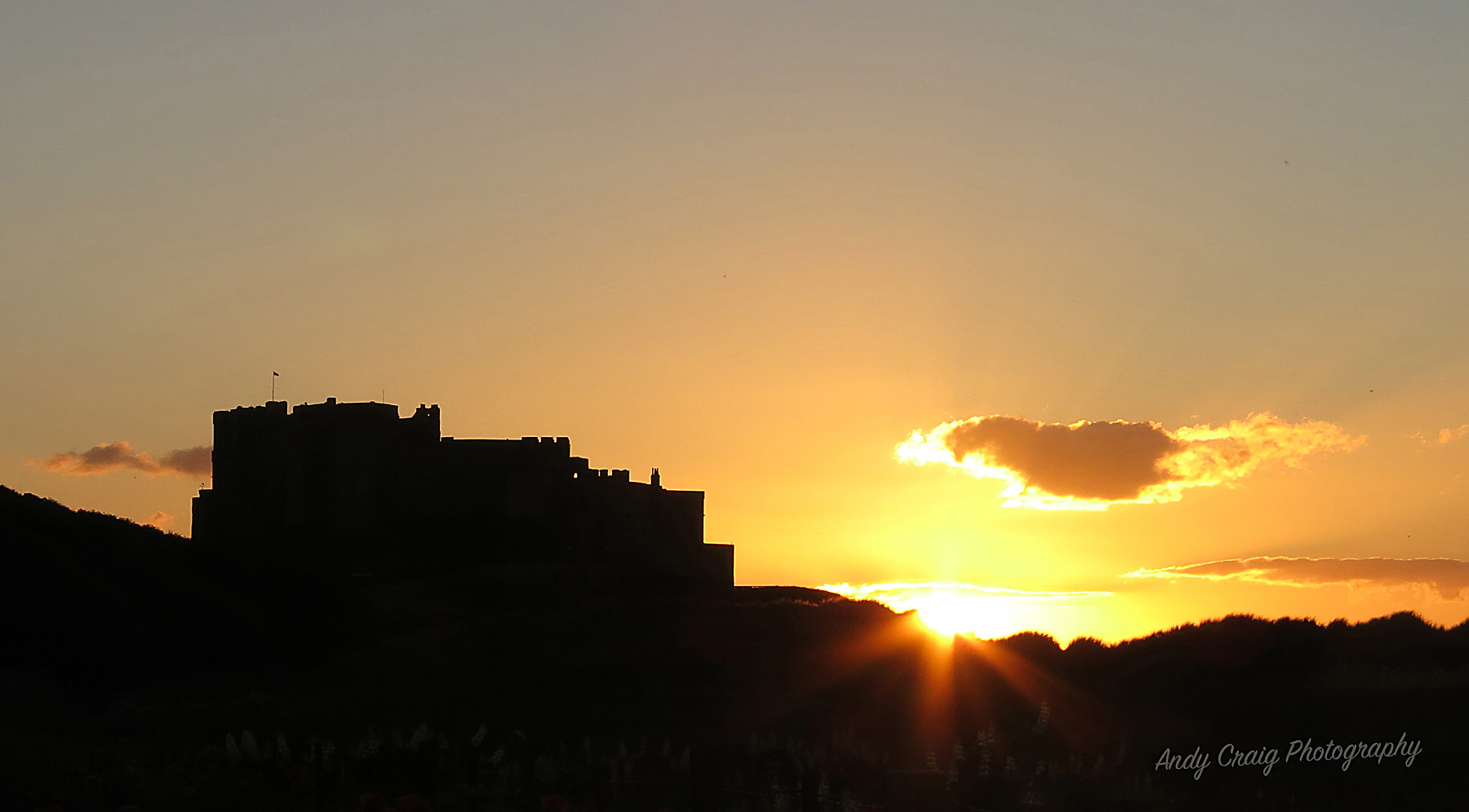 Bamburgh summer sunset
